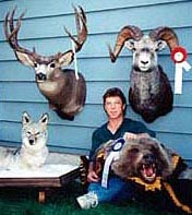 A range of our taxidermy mounts